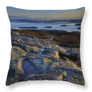 Cadillac Mountain And Frenchman's Bay Throw Pillow