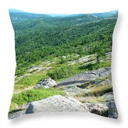 Cadillac Mountain Rocky View Throw Pillow