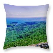 Cadillac Mt  Mt Desert Island Me Ocean View Throw Pillow