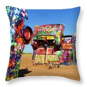 Cadillac Ranch 2  Throw Pillow