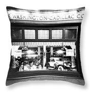 Cadillac Storefront, 1927 Throw Pillow