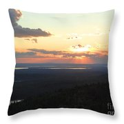 Cadillac Sunset Throw Pillow
