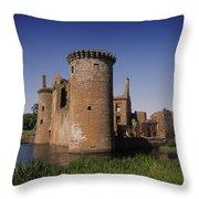 Caerlaverock Castle, Dumfries, Scotland Throw Pillow