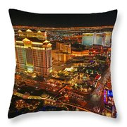 Caesars Palace On The Strip Throw Pillow