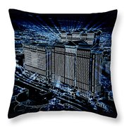 Caesars Palace Throw Pillow by Steven Richardson