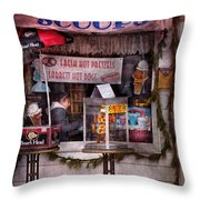 Cafe - Clinton Nj - The Luncheonette  Throw Pillow