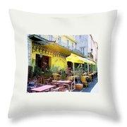 Cafe La Nuit Throw Pillow