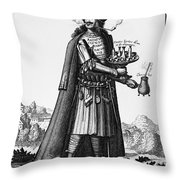 Cafe Owner, C1690 Throw Pillow by Granger