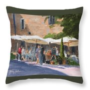 Cafe Senna Throw Pillow