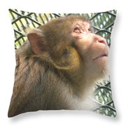 Caged Prayer Throw Pillow