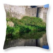 Cahir Castle, River Suir, County Throw Pillow