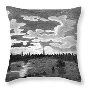 Cairo: Azbakiya Square Throw Pillow