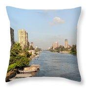 Cairo City Streets Throw Pillow