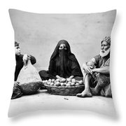 Cairo: Natives Throw Pillow