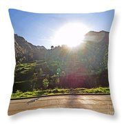 Cajas Mountains Sunset  Ecuador Throw Pillow