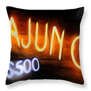 Cajun Casino - Bourbon Street Throw Pillow