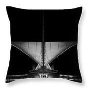 Calatrava Dusk - B And W Throw Pillow