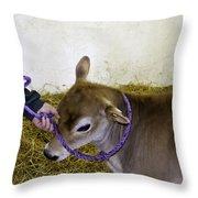 Calf Roping Throw Pillow