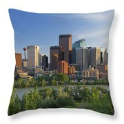 Calgary, Alberta, Canada Throw Pillow