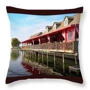 Calhouns On The Lake Throw Pillow