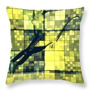 Caliente Geometric Yellow Throw Pillow