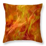 Caliente On Fire With Butterflies Throw Pillow