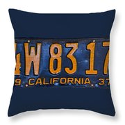 California 1937 Throw Pillow