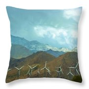 California Desert In Winter Throw Pillow