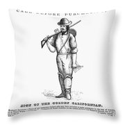 California Gold Rush, 1855 Throw Pillow