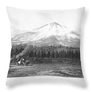 California: Mount Shasta Throw Pillow