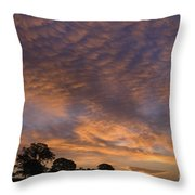 California Oaks And Sunrise Throw Pillow