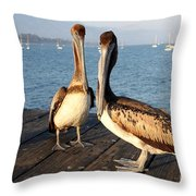 California Pelicans Throw Pillow