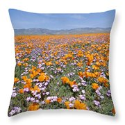 California Poppies And Other Throw Pillow