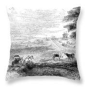 California: Vallejo, 1852 Throw Pillow