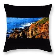 California Waterfront Throw Pillow