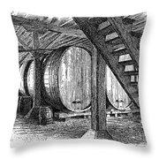 California: Winery, C1890 Throw Pillow