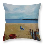 Californian Beach Throw Pillow