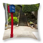 Call Box With Stairs Throw Pillow