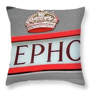 Call Me In London Throw Pillow