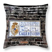 Calle D Borbon Throw Pillow