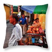Calle De Coco Throw Pillow