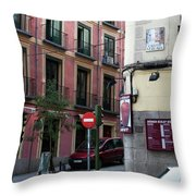 Calle De Vergara Madrid Throw Pillow