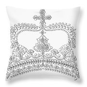 Calligraphy Crown Throw Pillow
