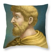 Callimachus, Greek-libyan Poet Throw Pillow