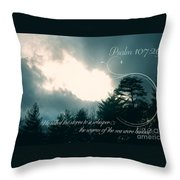 Calm The Storm Throw Pillow