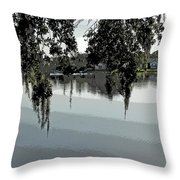 Calm Waters Before The Storm Throw Pillow
