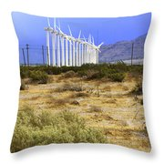 Calm Wind Palm Springs Throw Pillow