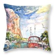 Calpe Harbour 04 Throw Pillow