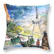 Calpe Harbour 07 Throw Pillow