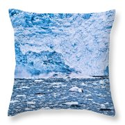Calving Glacier Throw Pillow